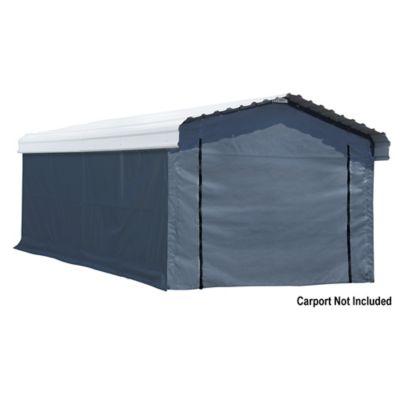 arrow 12 x 20 ft carport enclosure kit 7 5 oz triple layer woven polyethylene 10181
