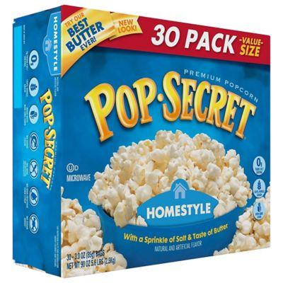 pop secret premium home style microwave popcorn 3 oz pack of 30 220 00634
