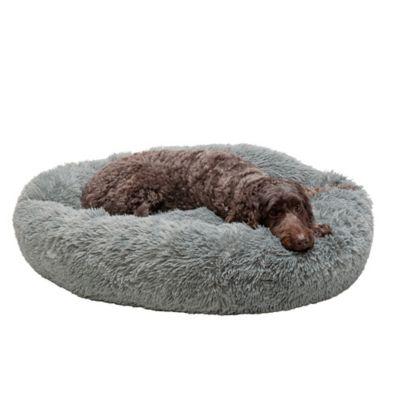 furhaven calming cuddler long fur donut dog bed 29454547 at tractor supply co