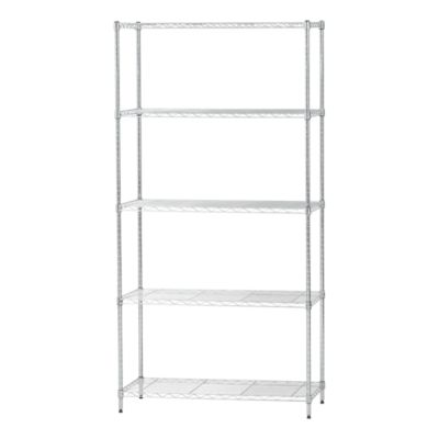 iris usa 5 shelf adjustable metal wire storage shelving unit steel organizer wire rack 596038