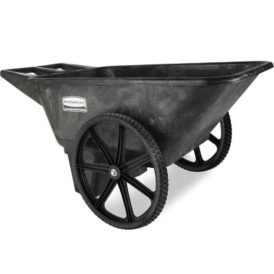 rubbermaid 5642 big wheel farm cart 7 1 2 cu ft