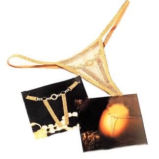 Rhinestone Gold Strings Panty