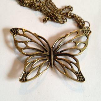 Bronze Butterfly Halssmycke