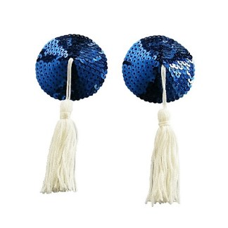 Blue Navy Sequin Nipple Covers