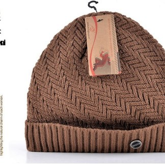 Winter Knitted Beanie with Vevet Inside
