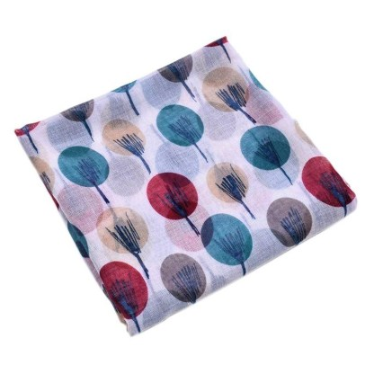 Beige Abstract Sketched Tree Printed Scarf