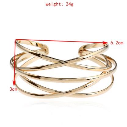 Stylish Multilayer Cuff Bracelet