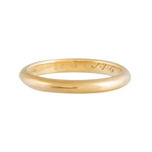 Cartier 18K Yellow Gold Wedding Band Ring Size 70