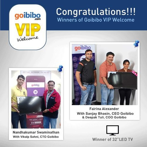 Winners of Goibibo VIP Welcome