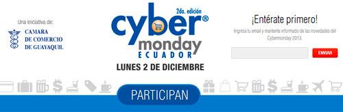 Página web de Cyber Monday Ecuador