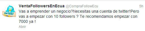 Comenzar tu cuenta en Twitter con 7.000 seguidores