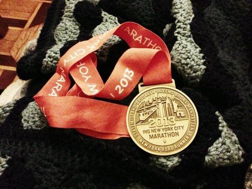 ING NYC Marathon medal.