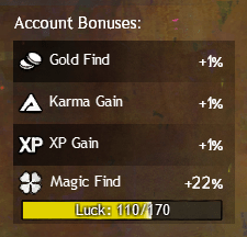 Account Bonuses