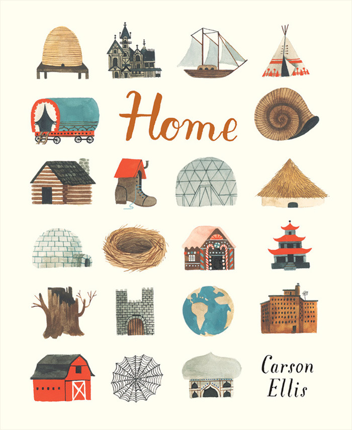 Front cover for 'Home' by Carson Ellis – published by Candlewick Press