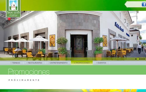 página web centro comercial San Luis Shopping Sangolqui