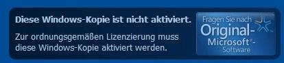 Diese Windows-Kopie ist nicht aktiviert