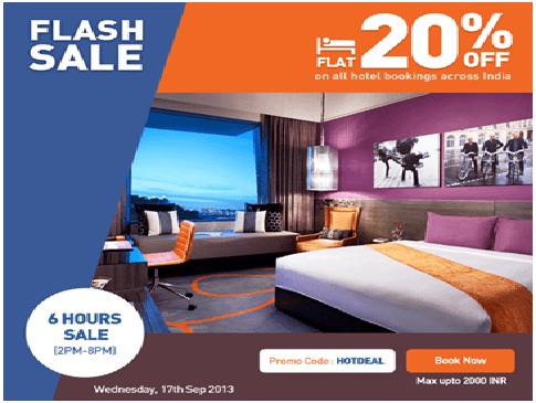 Flash sale-Goibibo