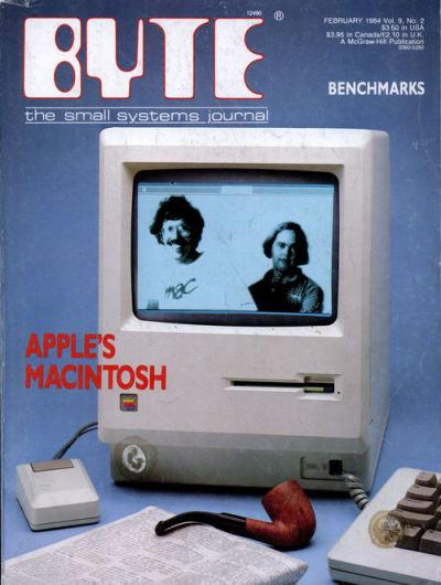 Grandiosa fotografia de la portada de la revista Bite de Febrero del 1984. - applearts