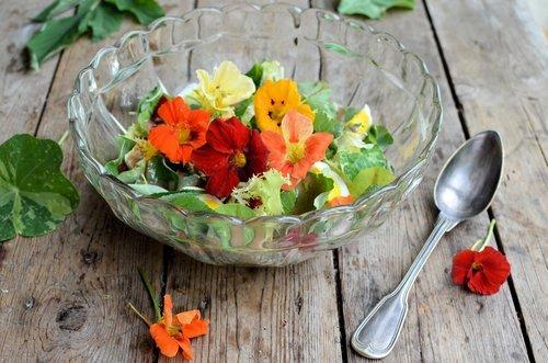 Nasturtium and Egg Salad