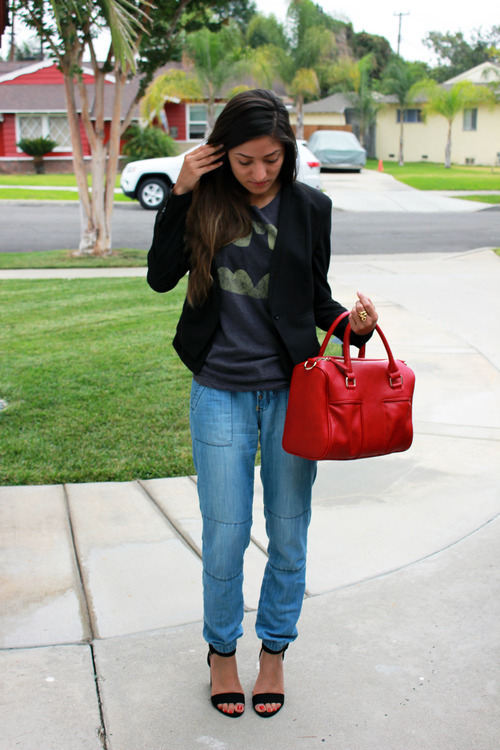 Modanista Junkie in Batman Tee and Denim Jogger Pants