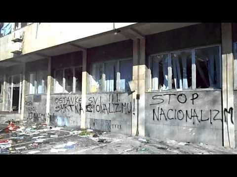 Anti-nationalist graffiti from Bosnia earlier this year.