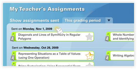 Screenshot of My Teacher's Assignments