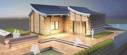 Độc đáo nhà tre với hệ thống pin mặt trời