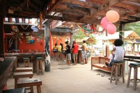 Vue du bar du Sama Sama Reggae Bar - Gili Trawangan, Lombok