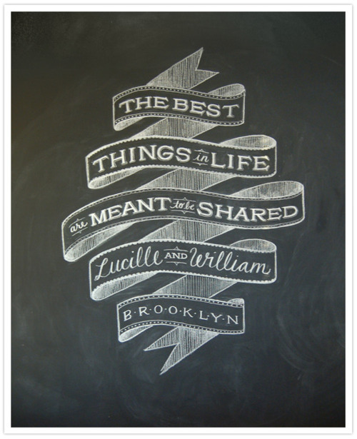the best things in life are meant to be shared, quote, black board