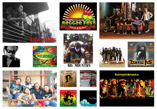 "Têtes d'affiches - Indonesian reggae festival 2011 : ""One love, one heart"""