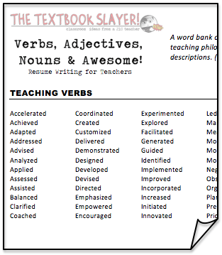 Resume Tips And Improving Verbs Resume Power Verbs  Resume Power Verbs