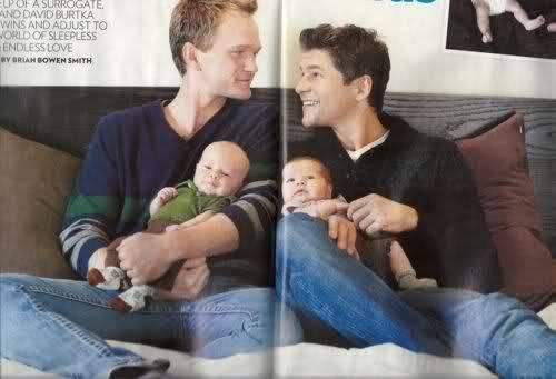 neil patrick harris, david burtka's twins via surrogate mother