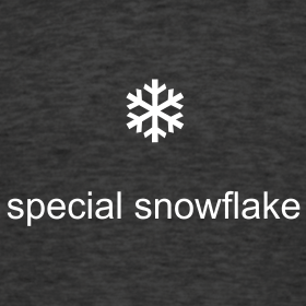 Dark sign with a white snowflake and the words