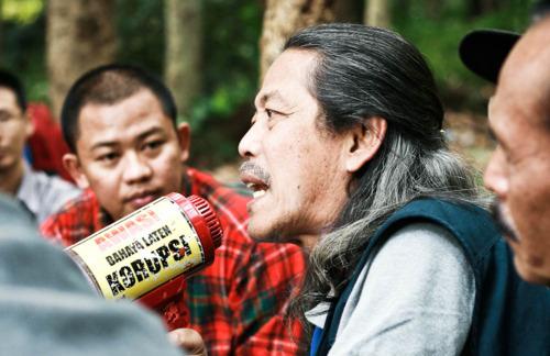 Kang Acil pra peresmian hutan kota Babakan Siliwangi