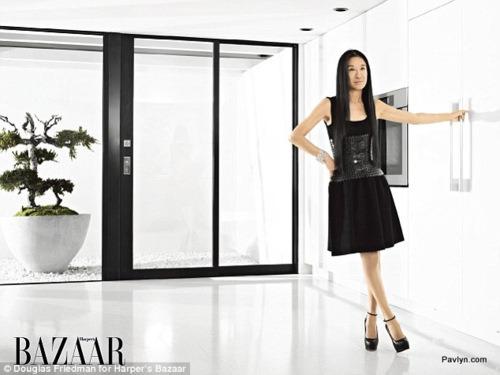 Vera Wang in Harper's Bazaar photoshoot