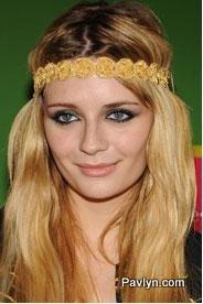 Misha Barton wearing yellow Deepa Gurnani headband