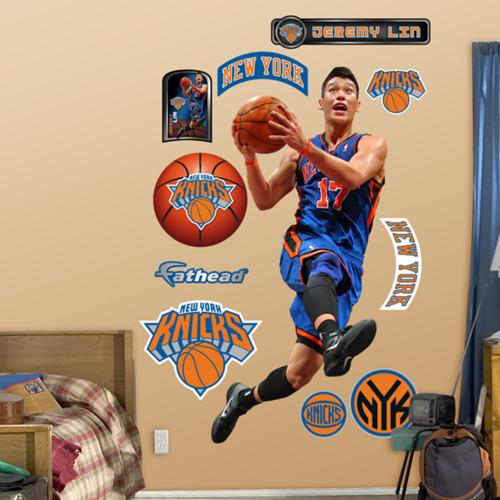 Jeremy Lin Fathead Stickers, New York Knicks Jerseys