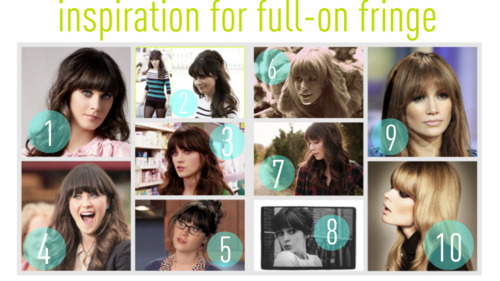 zooey d bangs, inspiration for thick bangs