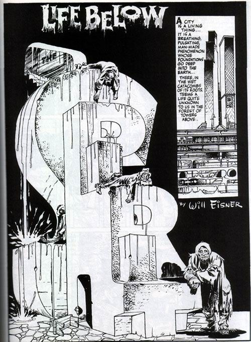 Image result for will eisner the spirit splash pages