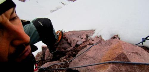 Saliendo del segundo desplome rocoso