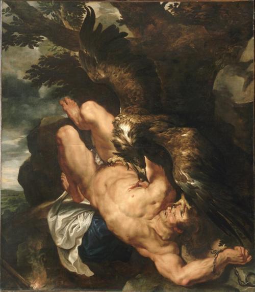 Peter Paul Rubens and Frans Snyders, Prometheus Bound, c. 1611-1618, oil on canvas.  Philadelphia Museum of Art