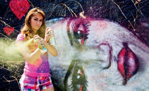 Pamela Castro, graffitis contra la violencia de género y machista