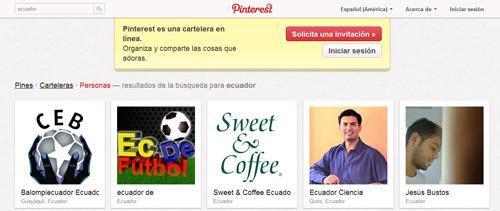 Personas y empresas de Ecuador en Pinterest