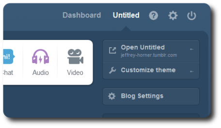 tumblr blog dashboard