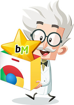Alfred with a Chrome Store box and a BuzzMath icon
