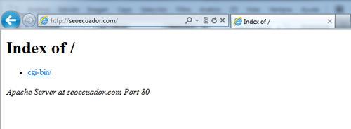 página web de seoecuador.com sin contenido