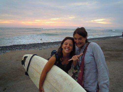 Con Sev, buena amiga surfer!