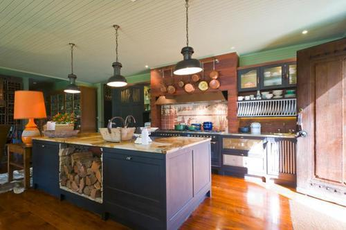 the kitchen as it appears today in all it's rehabbed glory