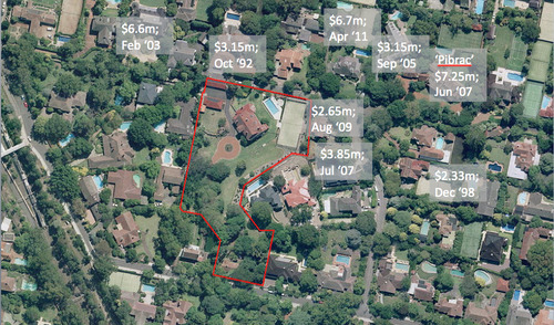 A recent aerial view below showing some impressive Pibrac Avenue comparables