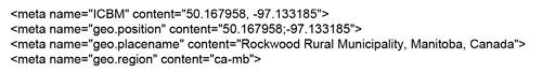 Ejemplo de geoetiquetas que puedes utilizar para el SEO local
